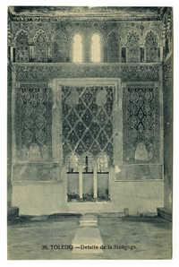 Toledo. - Detalle de la Sinagoga.