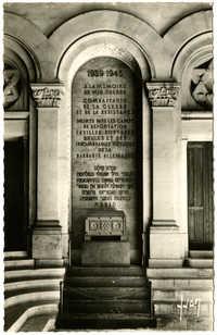 Grande Synagogue de Paris (1874). Monument aux Morts (1939-1945) / Memorial from the second war