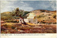 The Holy Land - The Tomb of Rachel on the Road from Jerusalem to Hebron