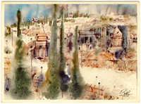 שמואל כץ - יד אבשלום / Shemuel Katz - Absalom's Pillar, Jerusalem
