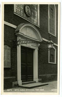 Bevis Marks Synagogue - front door