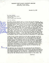 Letter from Charleston County Economic Opportunity Commission to Esau Jenkins