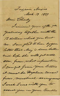 Letter from Doctor John Drayton to Charles H. Drayton