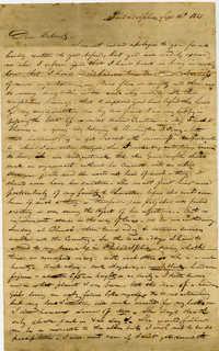 Letter from Thomas Jervey to Charles Drayton