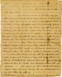 Letter from Charlotte Manigault to Ester Gibbes, January 1834
