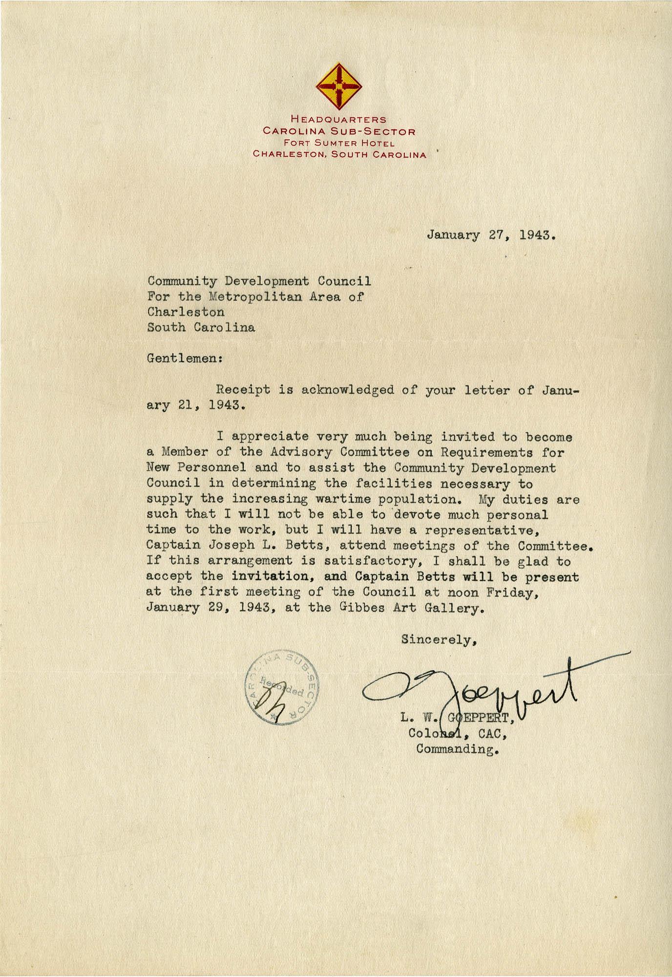 Folder 32: Goeppert Letter