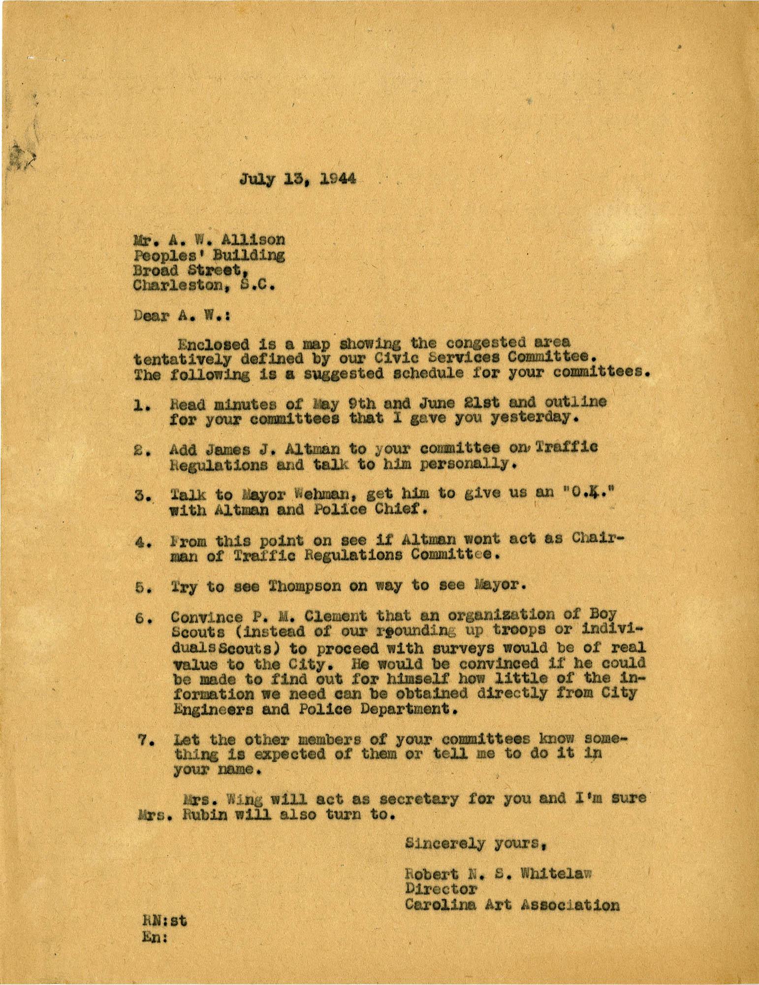 Folder 43: Whitelaw Letter 3