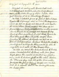 Manuscript written by Esau Jenkins describing his work