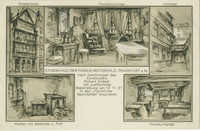 Stammhaus der Familie Rothschild, Frankfurt a. M. nach Zeichnungen des Kunstmalers Richard Enders mit ausführlicher Beschreibung am 13.11.27 in den