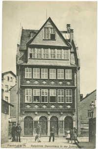 Frankfurt a. M. Rotschilds Stammhaus in der Judengasse.