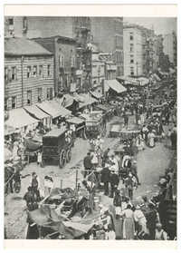New York, 1899. Hester Street Near Essex.