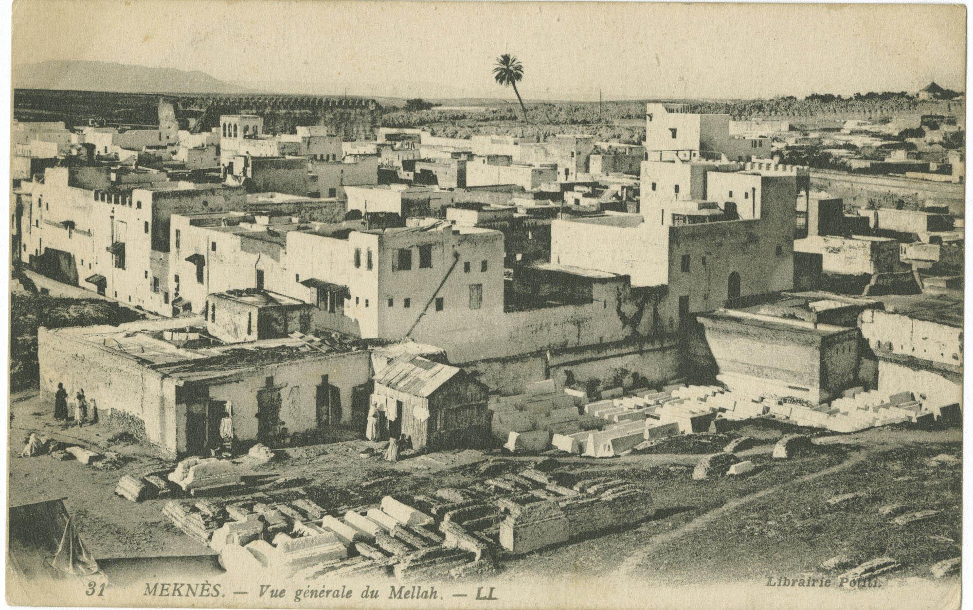 MEKNÈS. - Vue général du Mellah