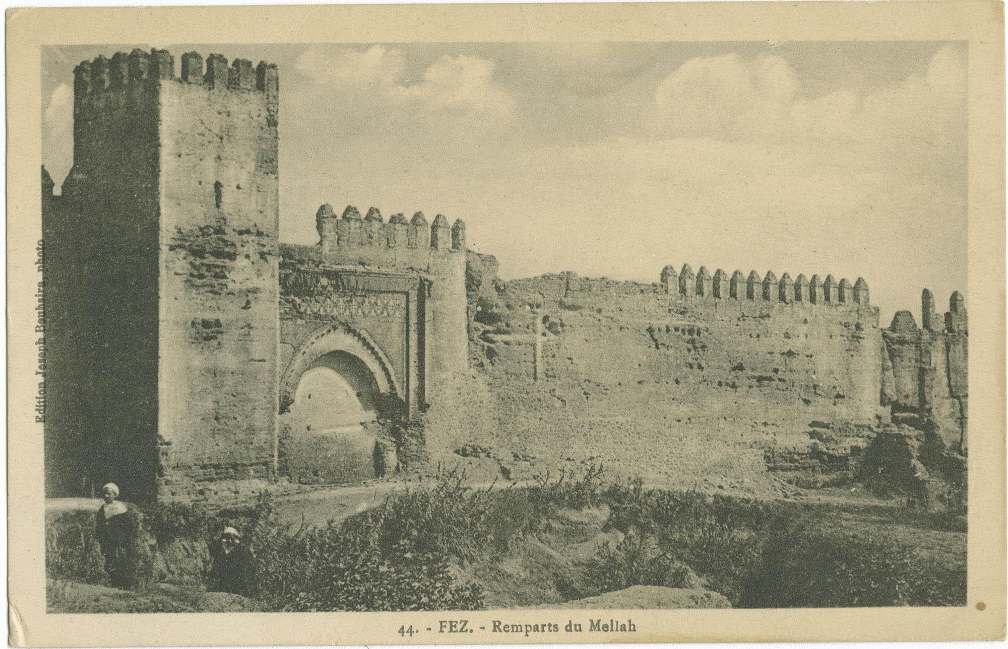 FEZ. - Remparts du Mellah