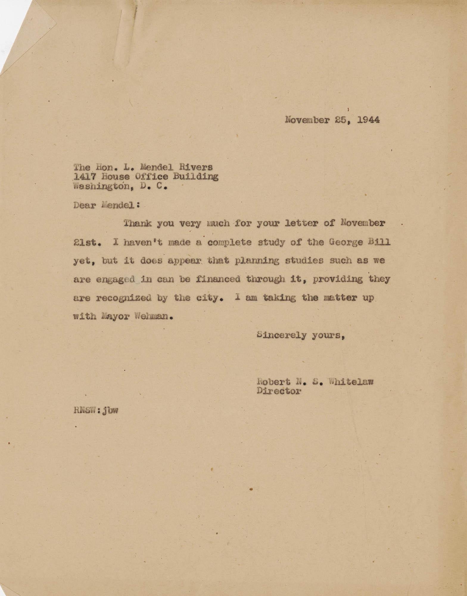Folder 49: Whitelaw Letter 2