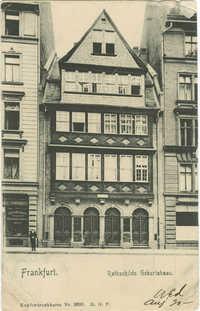 Frankfurt. Rothschilds Geburtshaus.