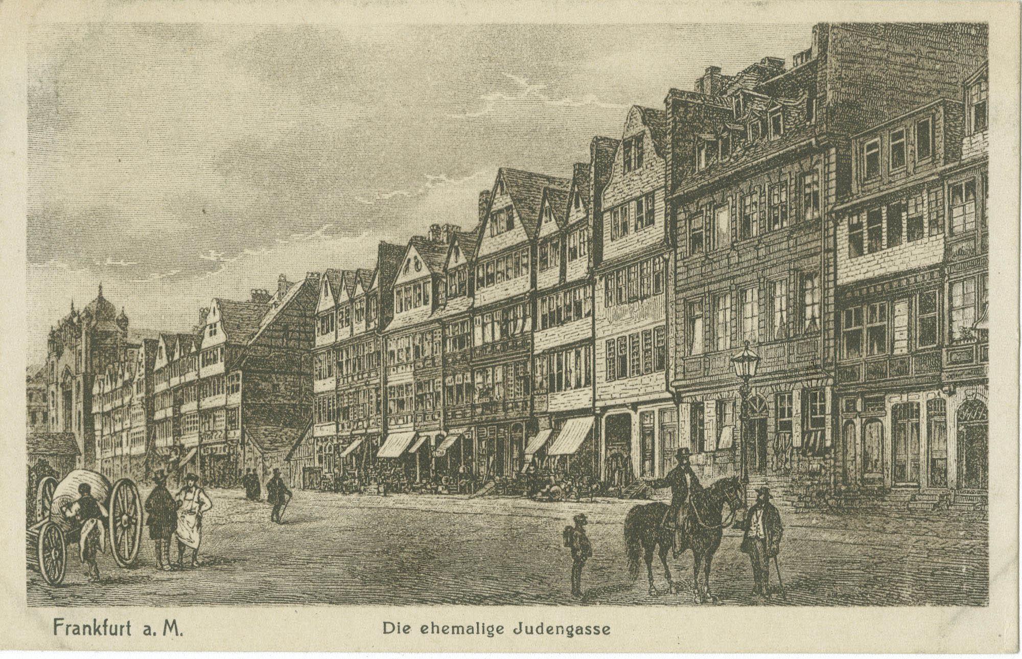 Frankfurt a. M. Die ehemalige Judengasse.