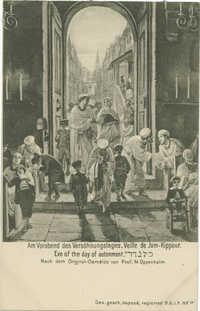 Am Vorabend des Versöhnungstages. / Veille de Jom-Kippour. / Eve of the day of autonment. / כל נדרי