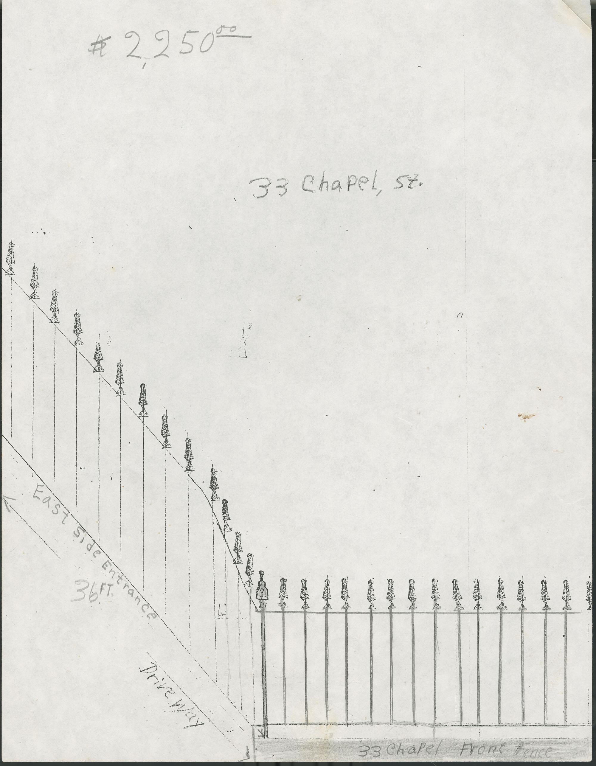 33 Chapel Street fence