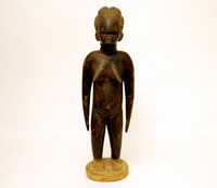 Female wooden statue