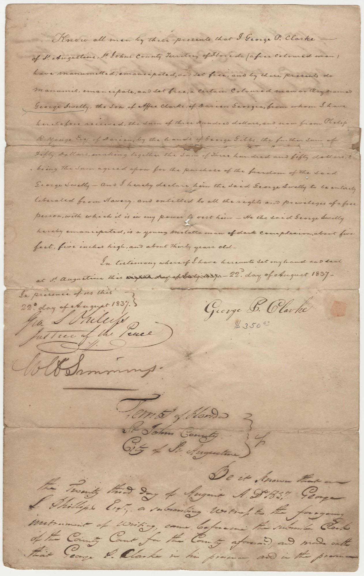 626.  Deed of Emancipation -- August 22, 1837
