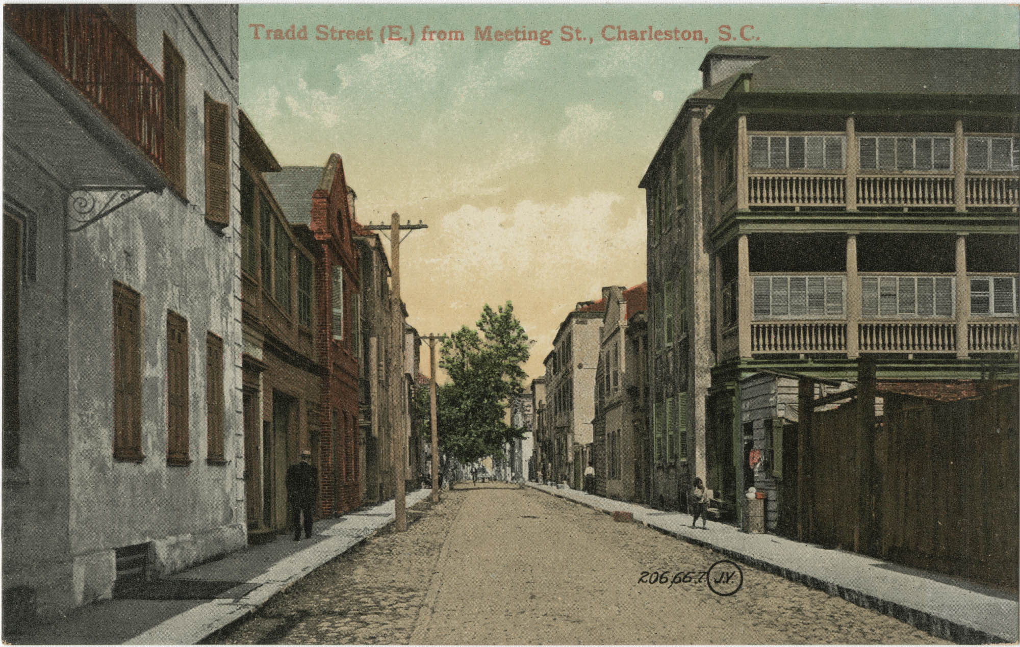 Tradd Street (E.) from Meeting St., Charleston, S.C.