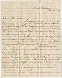 510.  William Finley Barnwell to Catherine Osborn Barnwell -- January 28, 1861