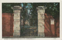 Gateway of Simonton House built 1776, Charleston, S.C.
