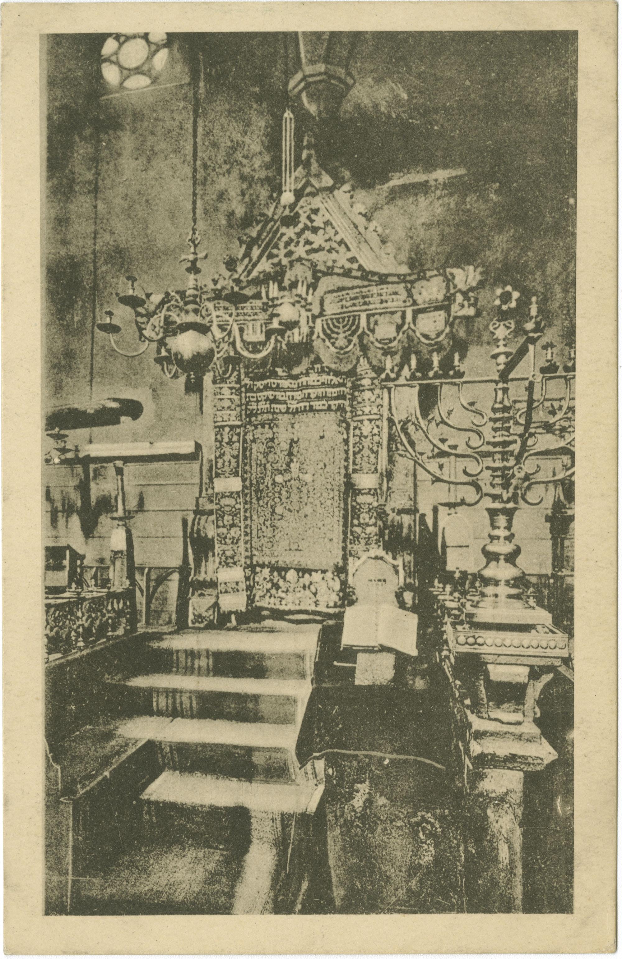 Praha. Staronová synagoga. Hlavní oltář.