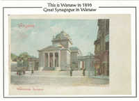 This is Warsaw in 1896. Great Synagogue in Warsaw.