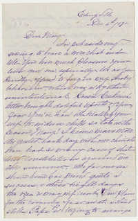 541.  Selina McCarthy Graham to Mary Elliott Barnwell -- December 4, 1870