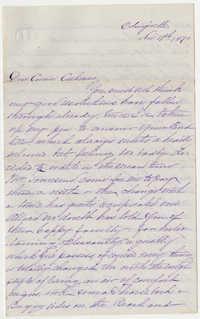539.  Selina McCarthy Graham to Catherine Osborn Barnwell -- November 19, 1870