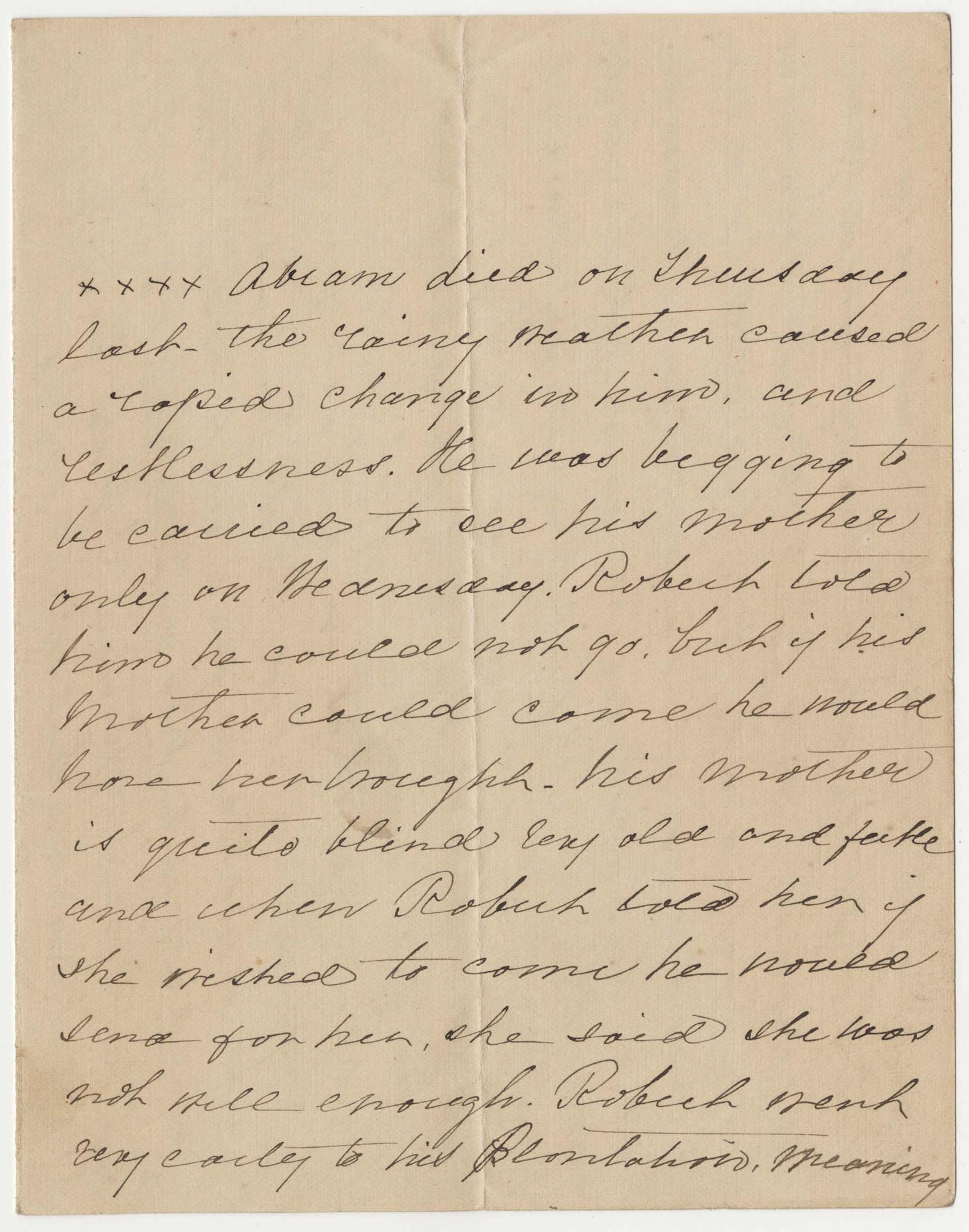 550.  Ann Barnwell to Catherine Osborn Barnwell? -- n.d.