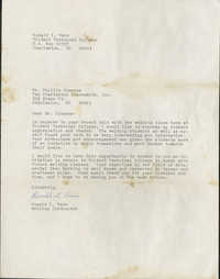 Letter from Ronald L. Vann to Philip Simmons
