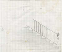 Unidentified stair railing with scroll end