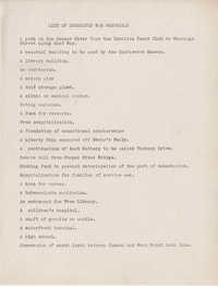 Folder 46: War Memorials List
