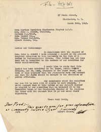 Folders 52-61: Albert Simons Letter 1