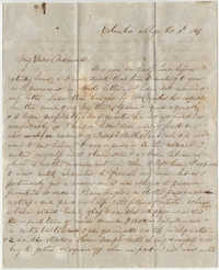 263.  Robert Woodward Barnwell to Catherine Osborn Barnwell -- October 13, 1847