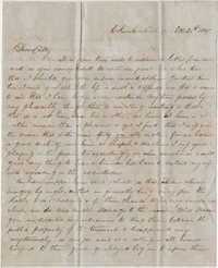 265.  Robert Woodward Barnwell to Catherine Osborn Barnwell (sister) -- October 20, 1847