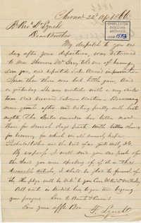 408. Francis Lynch to Bp Patrick Lynch -- April 22, 1866