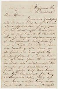 546.  Allard Belin Barnwell to Mary Elliott Barnwell -- November 25, 1870?