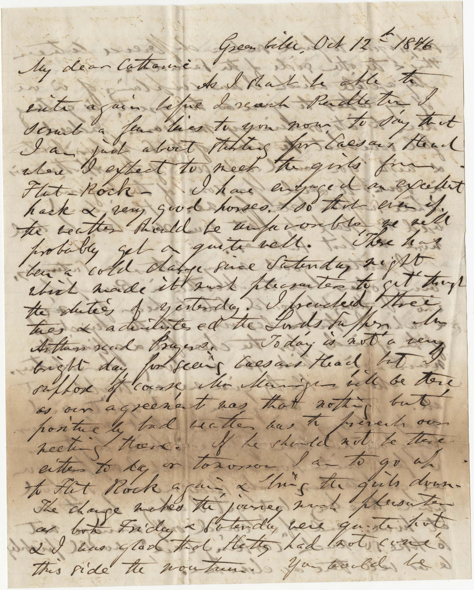 094.  William H. W. Barnwell to Catherine Barnwell -- October 12, 1846