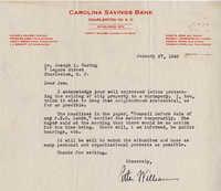 Folders 52-61: Williams Letter