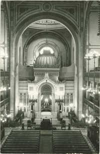 Budapest. Dohány utcai templom (épült : 1859).