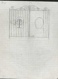 Unidentified gate drawing and details.
