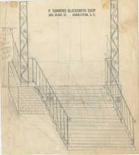 Unidentified porch and stair rails