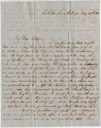 316.  Robert Woodward Barnwell to William H. W. Barnwell -- May 29, 1850