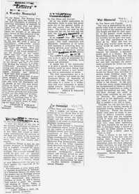Folder 47: War Memorial Article 14