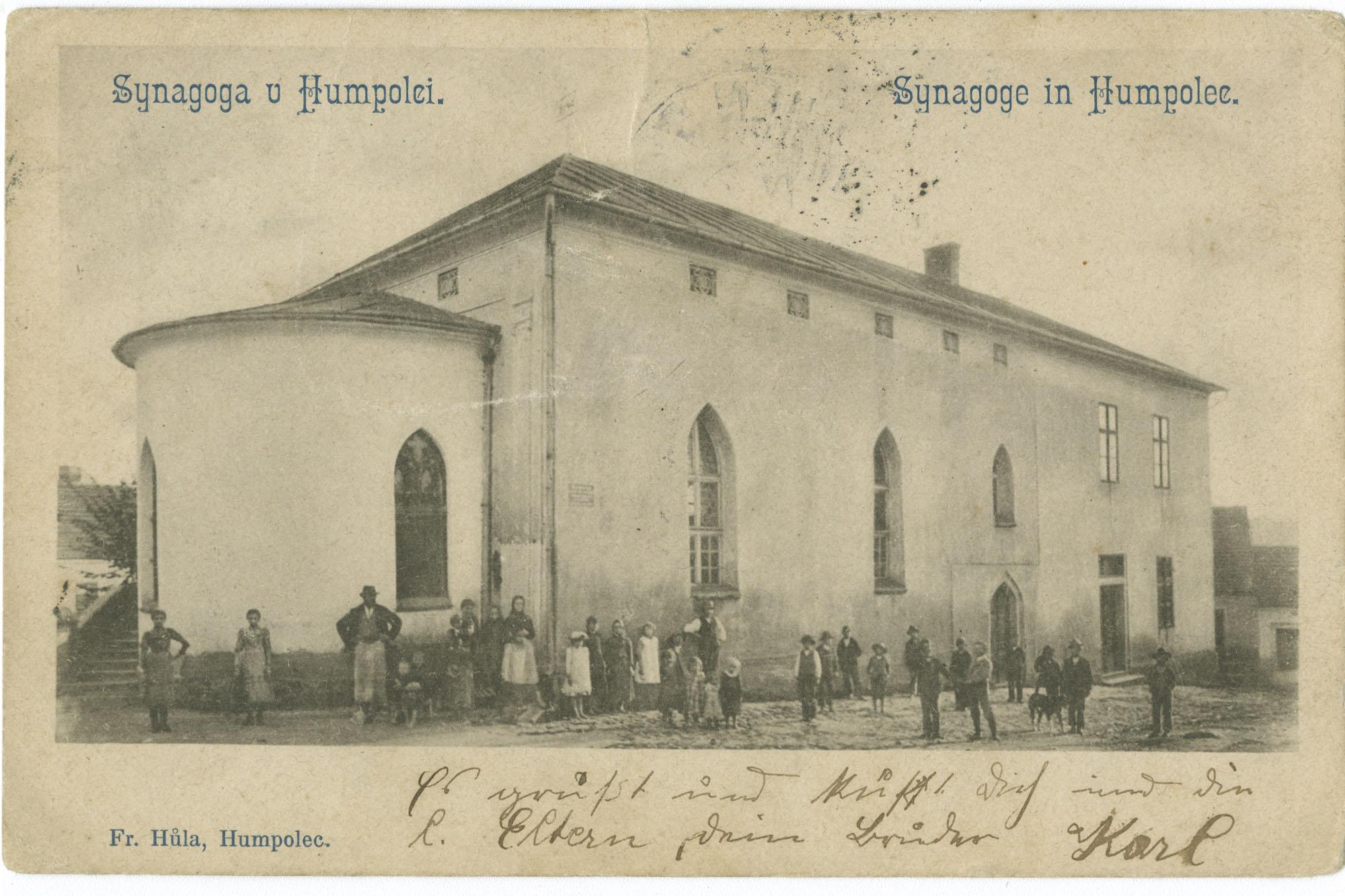 Synagoga u Humpolei. / Synagoge in Humpolec.
