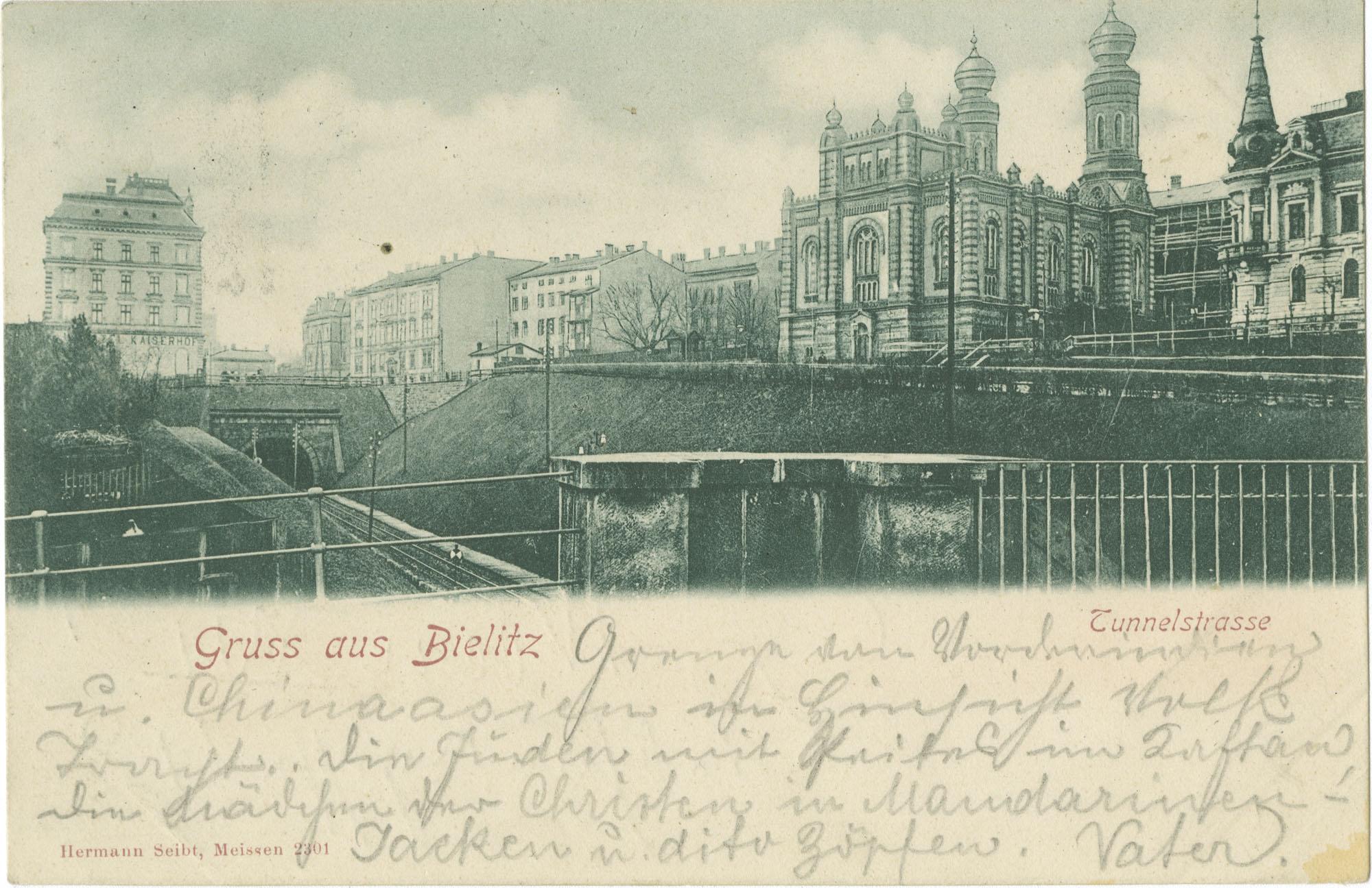 Gruss aus Bielitz. Tunnelstrasse.