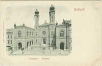 Budapest. Zsinagoga / Synagoge